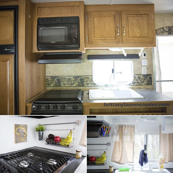 Kitchen renovation in camper