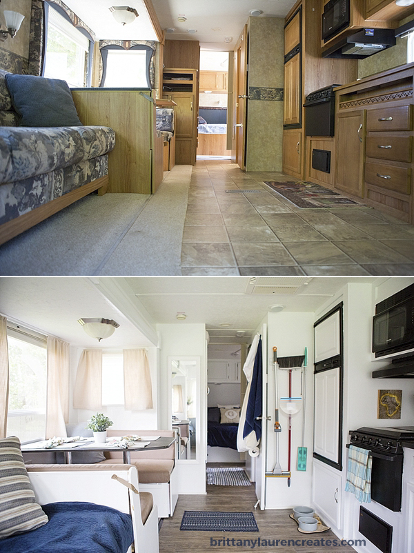 gorgeous camper before and after
